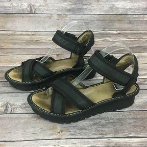 Fly London Black Sandals